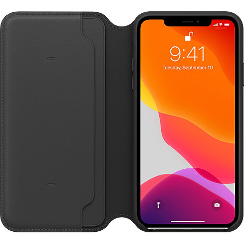 Apple Leder Folio Case iPhone 11 Pro Max- Schwarz 99929820 hinten