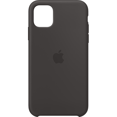 Apple Silikon Case iPhone 11 - Schwarz 99929823 vorne