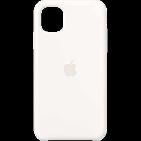Apple Silikon Case iPhone 11 - Weiß 99929826 vorne