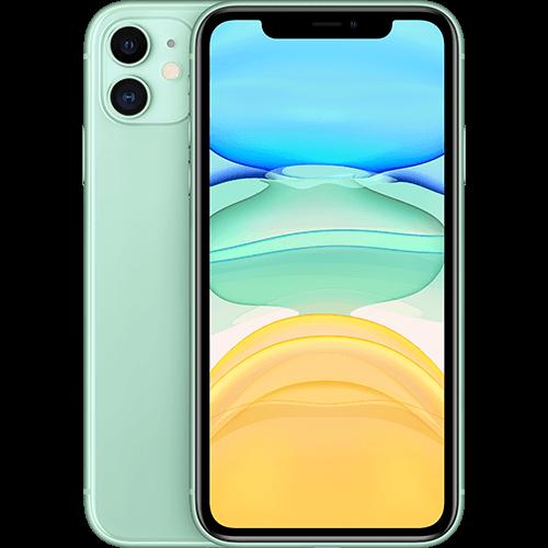 Apple iPhone 11 Grün  Vorne und Hinten