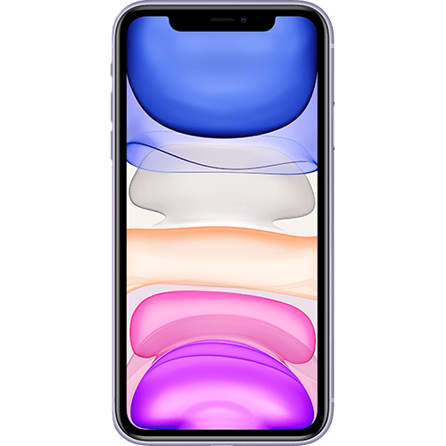 Apple iPhone 11 Violett Vorne