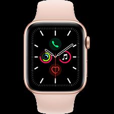 Apple Watch Series 5 Aluminium-40 mm, Armband-Sport-Sandrosa, GPS und Cellular