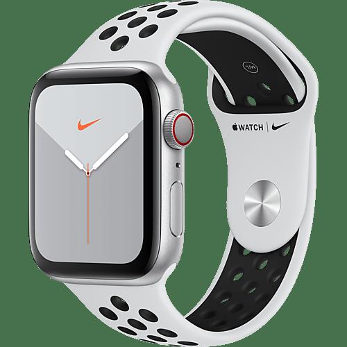 Apple Watch Nike Series 5 Aluminium Silber Vorne und Hinten