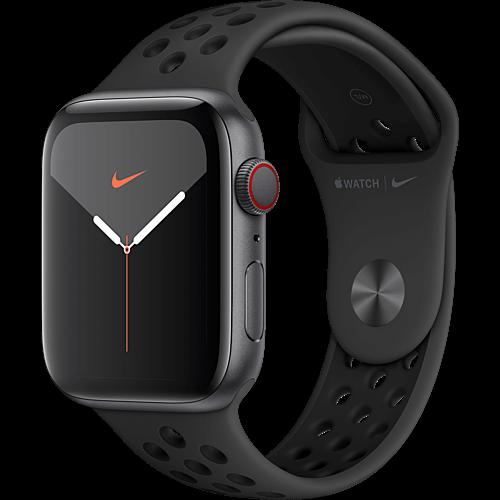 Apple Watch Nike Series 5 Aluminium Space Grau Seite