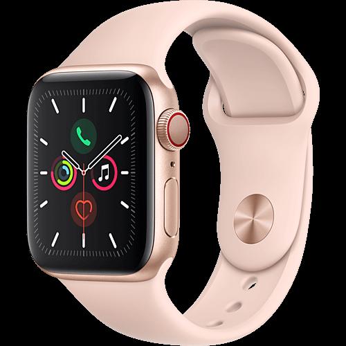 Apple Watch Series 5 Aluminium Gold Vorne und Hinten