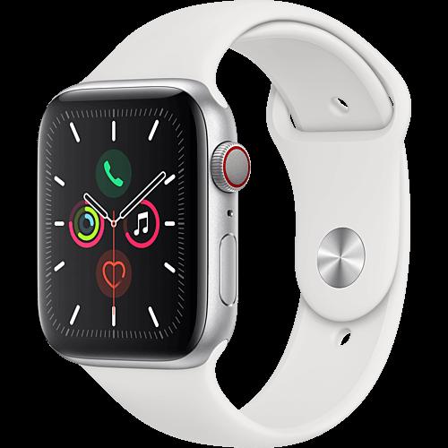 Apple Watch Series 5 Aluminium Silber Vorne und Hinten