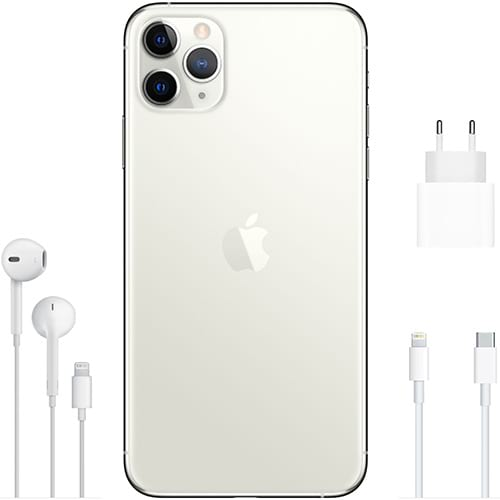 Apple iPhone 11 Pro Max Silber Lieferumfang