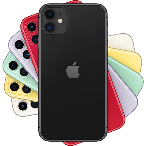 Apple iPhone 11 Schwarz Fächer