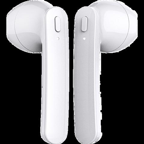 xqisit True Wireless Pro Bluetooth-Kopfhörer - Weiß 99929855 seitlich
