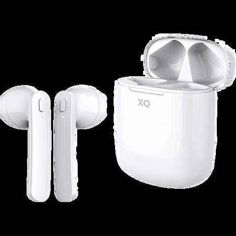 xqisit True Wireless Pro Bluetooth-Kopfhörer - Weiß 99929855 hinten