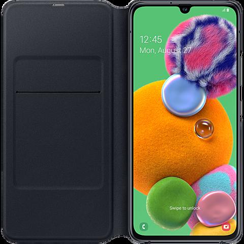 Samsung Wallet Cover Galaxy A90 5G - Schwarz 99929871 seitlich