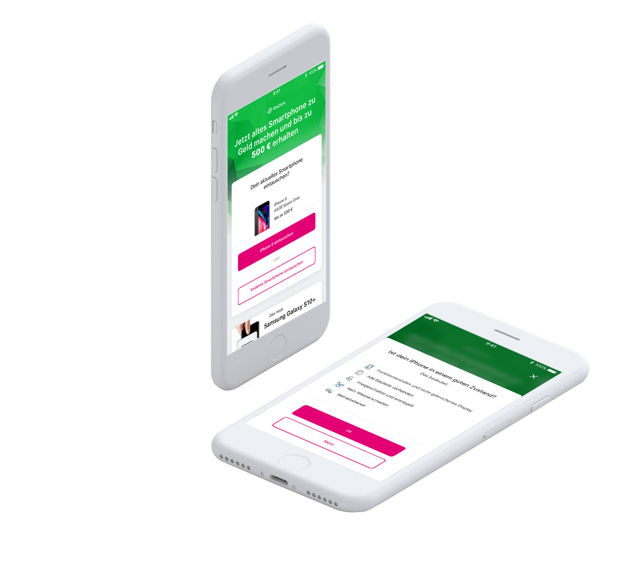 We Care: Mit dem Browser oder in der MeinMagenta App