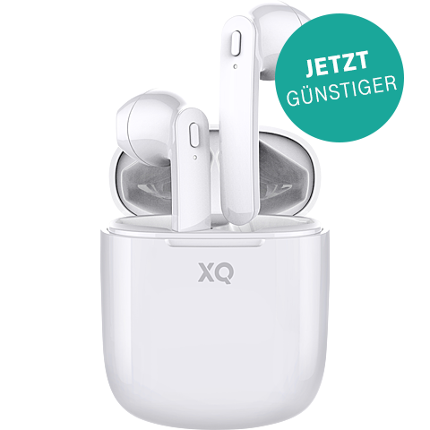 xqisit True Wireless Pro Bluetooth-Kopfhörer - Weiß 99929855 vorne
