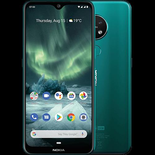 Nokia 7.2 Cyan Green Vorne und Hinten