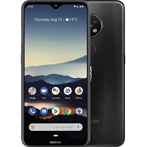 Nokia 7.2 Charcoal Vorne und Hinten