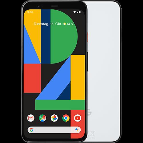 Google Pixel 4 Clearly White Vorne und Hinten