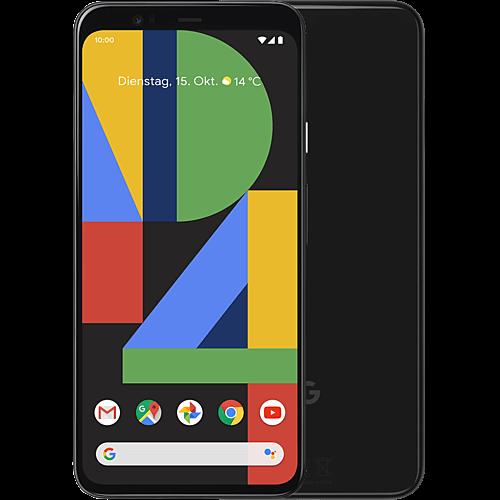 Google Pixel 4 Just Black Vorne und Hinten