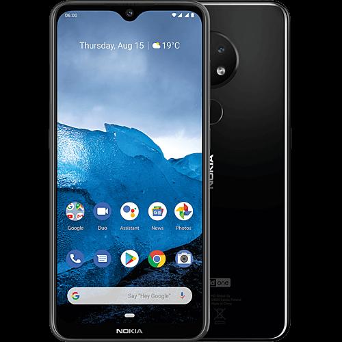 Nokia 6.2 Black Vorne und Hinten