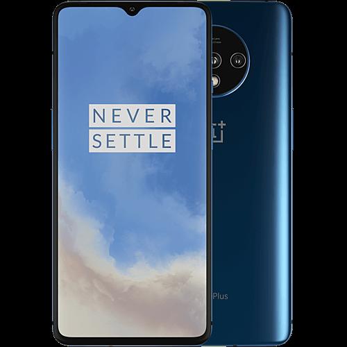 OnePlus 7T Glacier Blue Vorne und Hinten