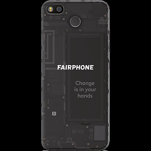 Fairphone 3 Dark Translucent Hinten