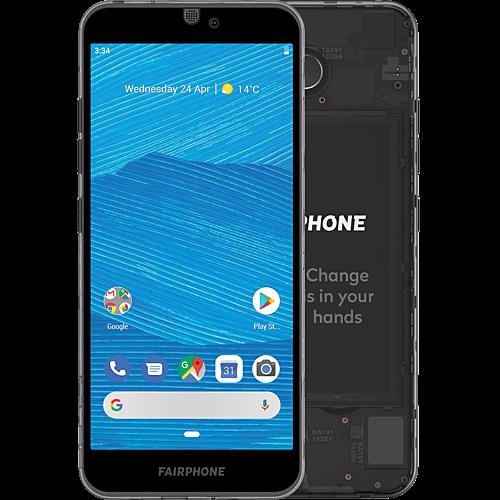 Fairphone 3 Dark Translucent Vorne und Hinten