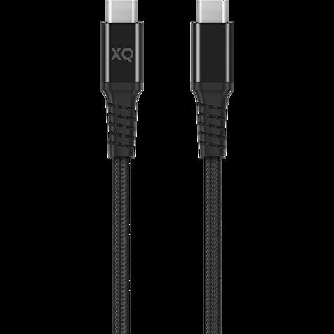 xqisit Lade- und Datenkabel Baumwolle mit USB-C - Schwarz 99929856 hero