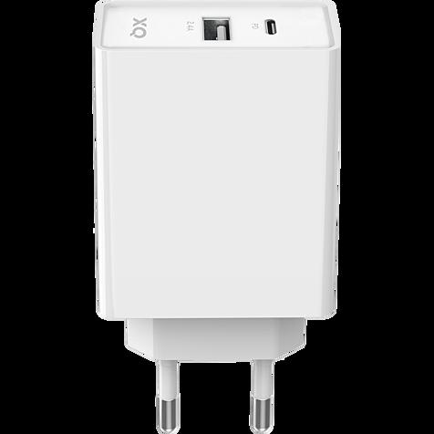 xqisit Ladegerät 5,4A Dual USB-C - USB-A - Weiß 99929860 hero