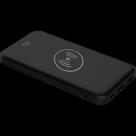 xqisit Induktive Premium Wireless Powerbank - Schwarz 99929867 vorne