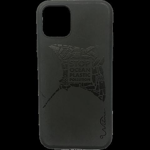 Wilma Stop Plastic Matt Apple iPhone 11 - Manta Schwarz 99930068 vorne