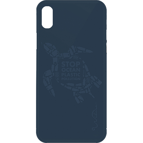 Wilma Stop Plastic Matt Apple iPhone X-XS - Turtle Blau 99930071 vorne