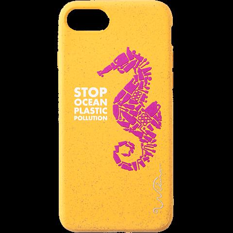 Wilma Stop Plastic Matt Apple iPhone 7-8 - Seahorse Gelb 99930066 vorne