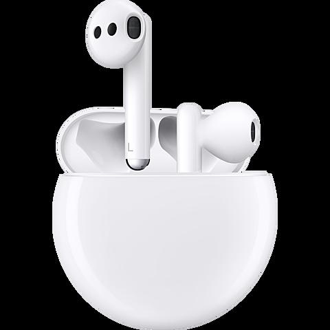 HUAWEI FreeBuds 3 In-Ear Bluetooth-Kopfhörer - Weiß 99930136 seitlich