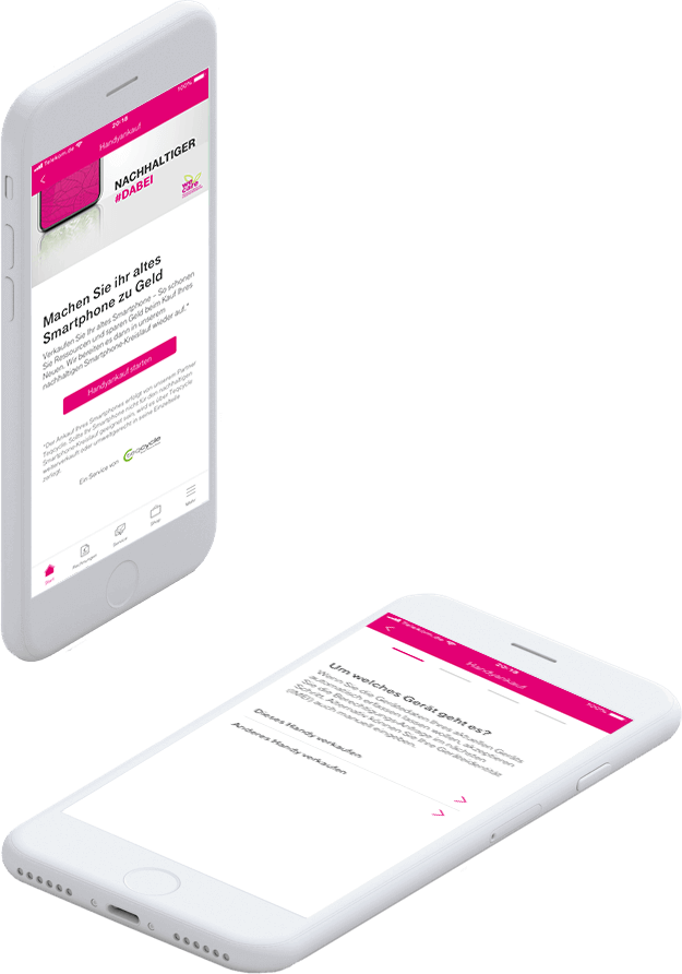We Care: Mit dem Browser oder in der MeinMagenta App