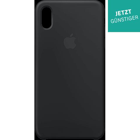 Apple Silikon Case iPhone XS Max - Schwarz 99928477 vorne