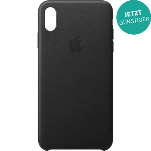 Apple Leder Case iPhone XS Max - Schwarz 99928482 vorne