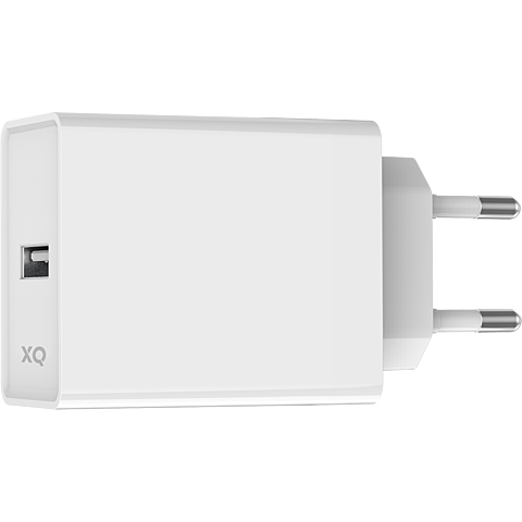 xqisit Ladegerät 2,4A Single USB-A - Weiß 99929859 vorne