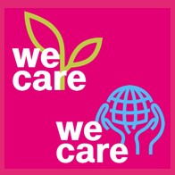 """We Care""-Label"