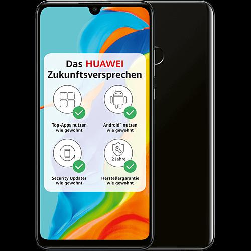 HUAWEI P30 lite New Edition Midnight Black Vorne und Hinten