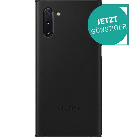 Samsung Leder Cover Galaxy Note 10 - Schwarz 99929633 vorne