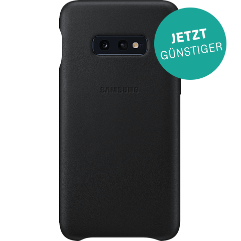 Samsung Leder Cover Galaxy S10e - Schwarz 99928900 vorne