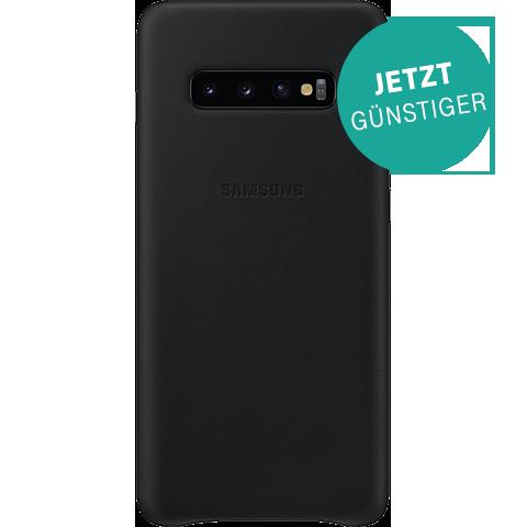 Samsung Leder Cover Galaxy S10 plus - Schwarz 99928910 vorne