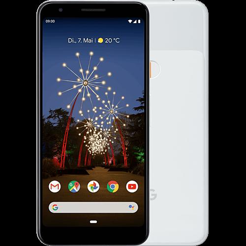 Google Pixel 3a Clearly White Vorne und Hinten
