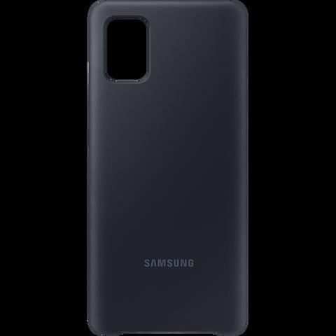 Samsung Silicon Cover Galaxy A51 - Schwarz 99930308 vorne