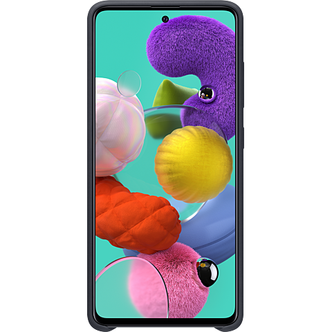 Samsung Silicon Cover Galaxy A51 - Schwarz 99930308 hinten