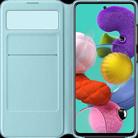 Samsung S-View Wallet Cover Galaxy A51 - Schwarz 99930309 seitlich