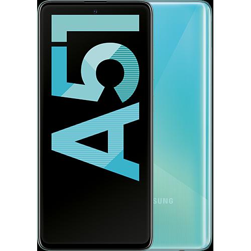 Samsung Galaxy A51 Prism Crush Blue Vorne und Hinten