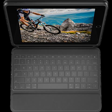 Logitech Rugged Schutzhülle Apple iPad (7. Generation) - Schwarz 99930305 hinten