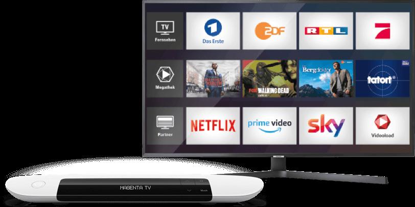 Fernseher mit Telekom Media Receiver