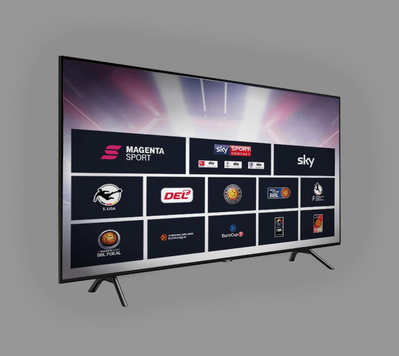 Mehr Sport im TV mit MagentaSport bei MagentaTV