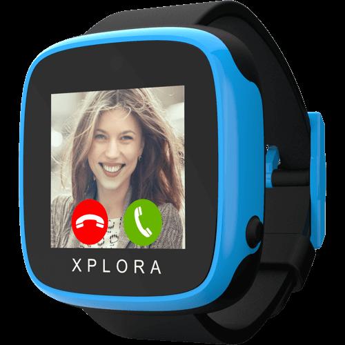 XPLORA GO Kids Blau-Schwarz Vorne